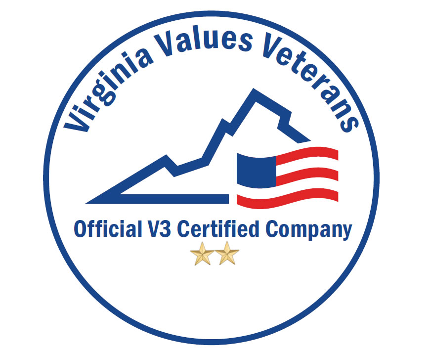 A seal from the Virginia Values Veterans program